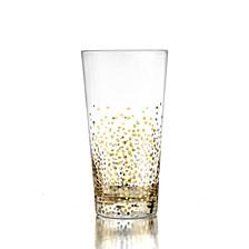 Gold Luster Hi Ball Glasses Set of 4