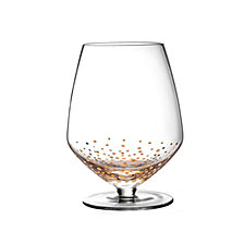 Jay Imports Gold Luster Set of 4 Pinot Noir Wine Glasses