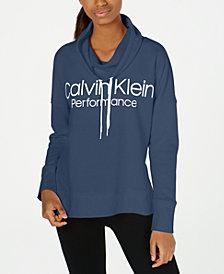 Calvin Klein Performance Cowlneck Drop-Shoulder Top