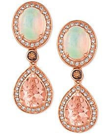 Le Vian® Multi-Gemstone (2-3/4 ct. t.w.) & Diamond (3/8 ct. t.w.) Drop Earrings in 14k Rose Gold