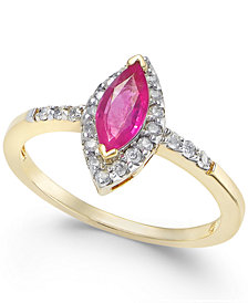 Ruby (3/4 ct. t.w.) & Diamond (1/5 ct. t.w.) Ring in 14k Gold