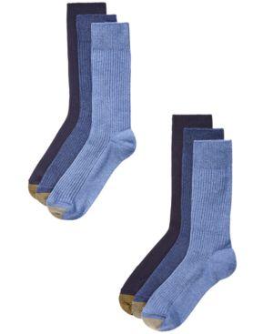 GOLD TOE Men'S 6-Pk. Crew Socks in Denim Assortment