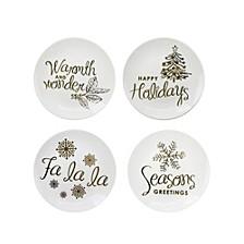 Holidays Gold Plates, Set of 4