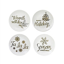 American Atelier Holidays Gold Plates, Set of 4