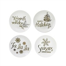 CLOSEOUT! American Atelier Holidays Gold Plates, Set of 4