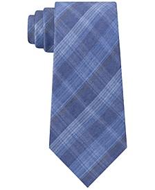 Men's Slim Fine-Line Plaid Tie