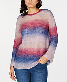 I.N.C. Ombré Striped Sweater, Created for Macy's