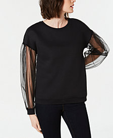I.N.C. Long-Sleeve Illusion Sweatshirt, Created for Macy's