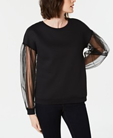 I.N.C. Long-Sleeve Illusion Sweatshirt, Created for Macy's