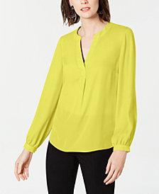 Yellow Blouse Womens Tops Macy S