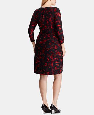 Lauren Ralph Lauren Plus Size Floral Print Dress Dresses Women