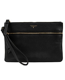 T Tahari Power Buddy Leather Wristlet w/ Charger