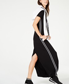 Michael Michael Kors MKGO Stripe-Tape Seamed Maxi Dress, In Regular and Petites