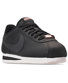 Nike Women's Classic Cortez Leather Metallic Casual Sneakers from Finish Line