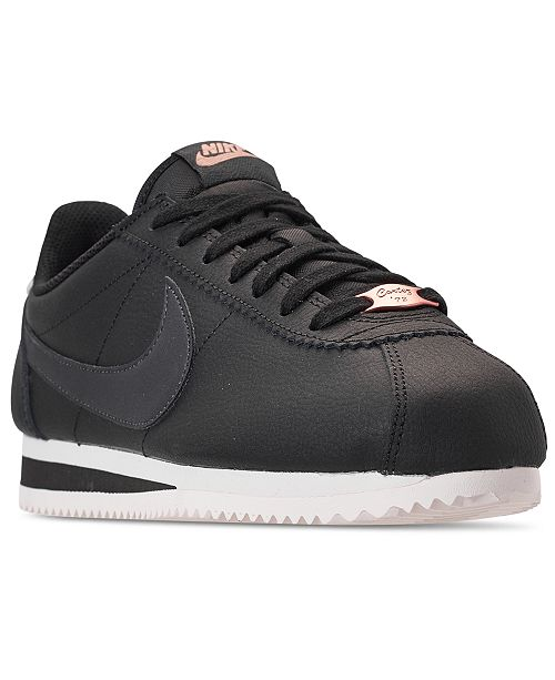 new product f6912 916a3 ... Nike Women s Classic Cortez Leather Metallic Casual Sneakers from  Finish ...