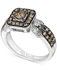 Le Vian® Chocolate and Vanilla Diamond Ring (3/4 ct. t.w.) in 14k White Gold