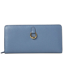 Lauren Ralph Lauren Bennington Snap Continental Leather Wallet
