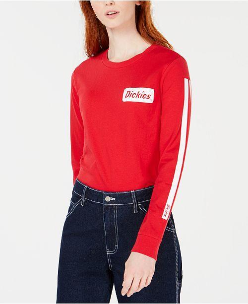 Dickies Cotton Long-Sleeve Logo T-Shirt
