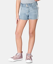 Little Girls Lace-Trim Denim Shorts, Created for Macy's