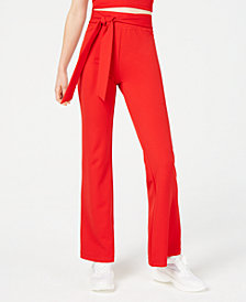 Material Girl Juniors' Tie-Waist Pants, Created for Macy's