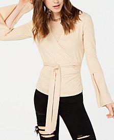 Material Girl Juniors' Surplice Wrap Top, Created for Macy's