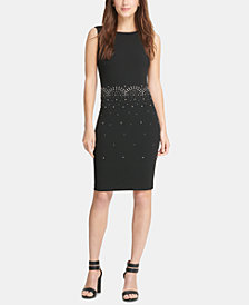DKNY Embellished Sheath Dress, Created for Macy's