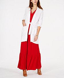 MICHAEL Michael Kors Ruffle-Sleeve Cardigan & Lace-Up Maxi Dress
