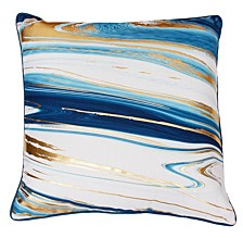 """Kia Marble Raised Foil Pillow, 20"""" x 20"""""""