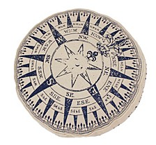 "16"" Compass Printed Kids Pillow"