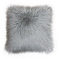 "Keller Faux Mongolian Reverse To Micromink Pillow, 20"" x 20"""