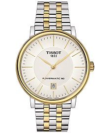 Tissot Men's Swiss Automatic T-Classic Carson Powermatic 80 Two-Tone Stainless Steel Bracelet Watch 40mm