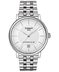 Tissot Men's Swiss Automatic T-Classic Carson Powermatic 80 Stainless Steel Bracelet Watch 40mm