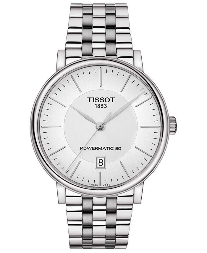 Tissot - Men's Swiss Automatic T-Classic Carson Powermatic 80 Stainless Steel Bracelet Watch 40mm