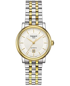 Women's Swiss Automatic T-Classic Carson Two-Tone Stainless Steel Bracelet Watch 30mm