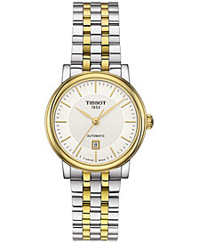 Tissot Women's Swiss Automatic T-Classic Carson Two-Tone Stainless Steel Bracelet Watch 30mm
