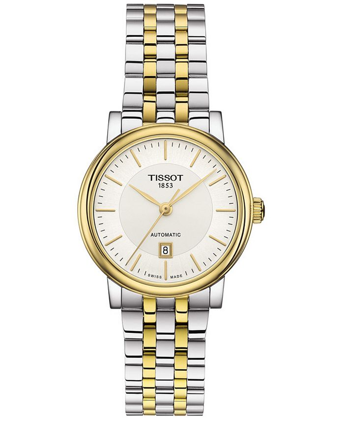 Tissot - Women's Swiss Automatic T-Classic Carson Two-Tone Stainless Steel Bracelet Watch 30mm