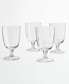 Martha Stewart Collection 4-Pc. Clear Glass Goblet Set, Created for Macy's