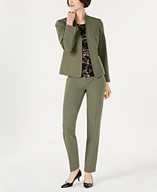 Nine West Stretch Jacket, Skinny Pants & Printed Top