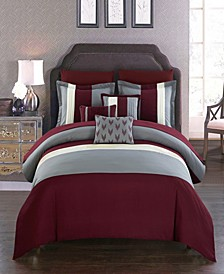 Ayelet 10-Pc. Bed In a Bag Comforter Sets