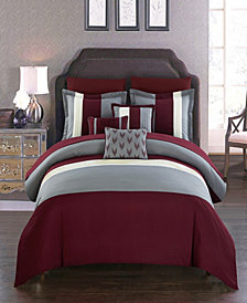 Chic Home Ayelet 10-Pc. Bed In a Bag Comforter Sets