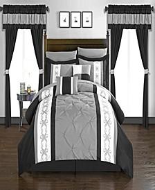 Icaria 20 Piece Queen Bed In a Bag Comforter Set