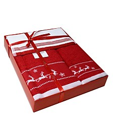 Enchante Home Santa's Sleigh Embellished 3-Pc. Towel Set