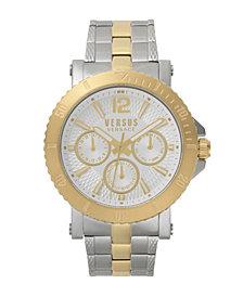 Versus Men's Steenberg Two-Tone Stainless Steel Bracelet Watch 45mm