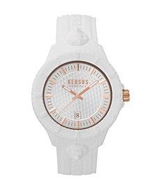 Versus Unisex Tokyo White Silicone Strap Watch 43mm