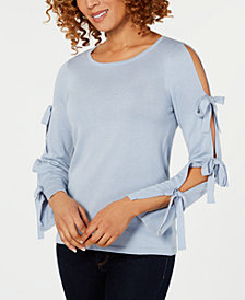 CeCe Bow-Sleeve Sweater