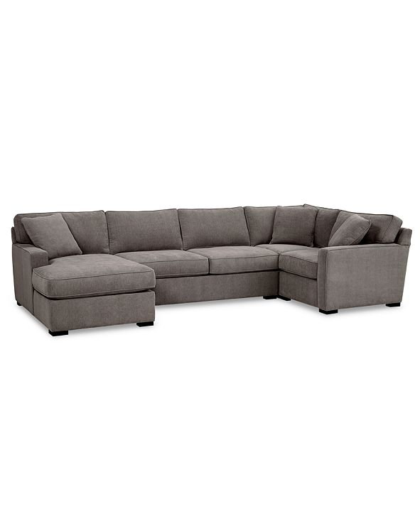 Furniture Radley 4-Pc. Fabric Chaise Sectional Sofa with Corner Piece, Created for Macy's