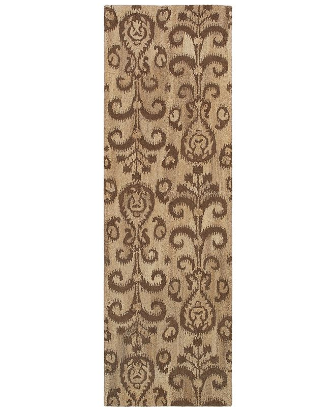 "Oriental Weavers Anastasia 68002 Sand/Brown 2'6"" x 8' Runner Area Rug"