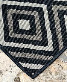"Liora Manne' Riviera 7641 Nested Diamond 7'10"" Indoor/Outdoor Square Area Rug"