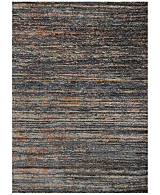 "Dreamscape DM-12 Slate/Orange 7'10"" x 11' Area Rug"