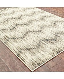 "Highlands 6608A Gray/Ivory 2'3"" x 7'6"" Runner Area Rug"